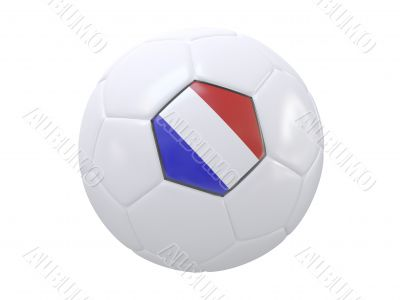Ball with flag of the France