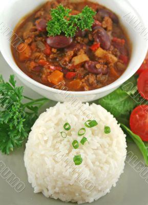 Rice Stack Chili Con Carne