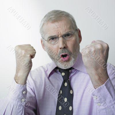 Angry senior executive