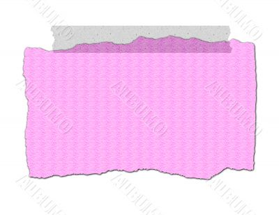 Pink Textured Paper - Ripped with Tape