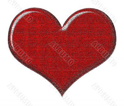 Cracked Textured Heart
