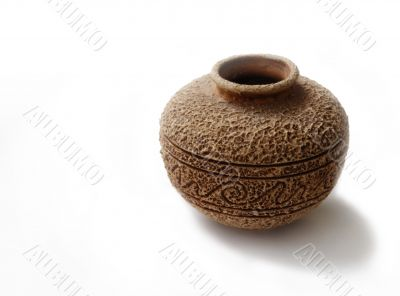 old style ceramic vase with rough suface