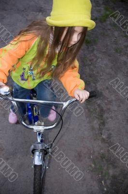 cycling little girl