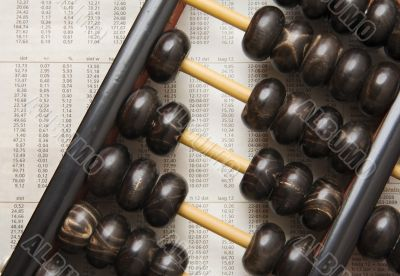 Abacus with figures