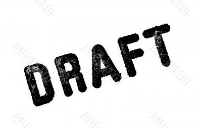 Draft: Rubber Stamp Print Isolated