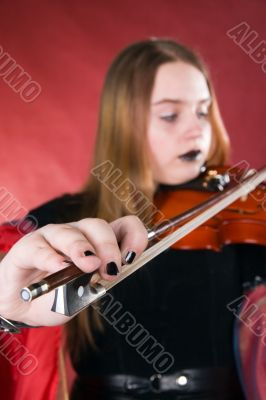 The gothic violinist.