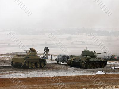 tank battle field