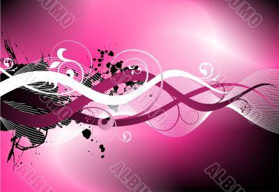 pink rough vector design