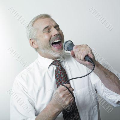 Singing old  man