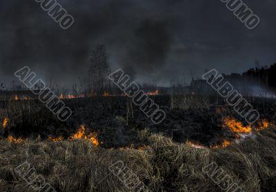 Burning bog