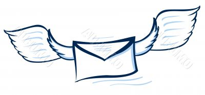 Vector illustration of an abstract envelope