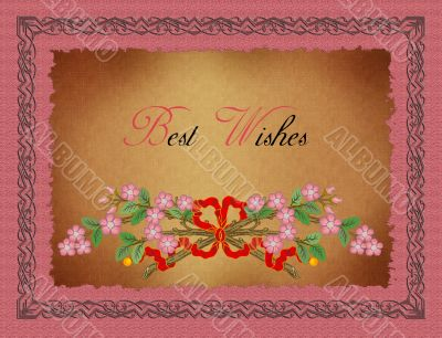 Greeting Card-Best Wishes