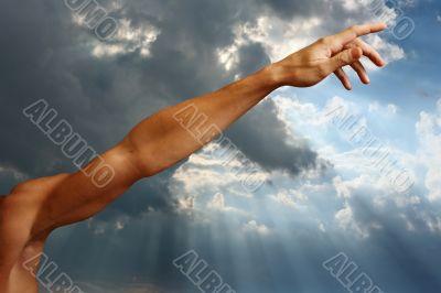 Man`s hand