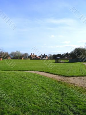 Village Green in Cheshire Village of Aldford