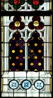 stained-glass pane