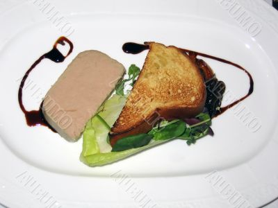 Chicken Liver Pate with Toast