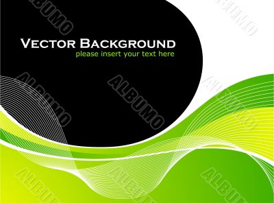 abstarct vector background with white wave