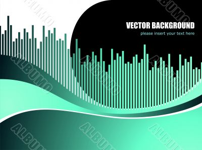 abstarct vector background with white wave pattern