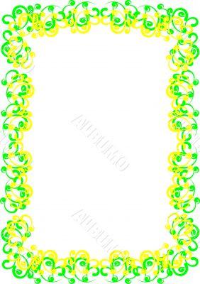 Patterned frame
