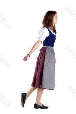 woman in Dirndl pulls