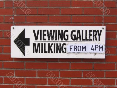 Milking Gallery Sign