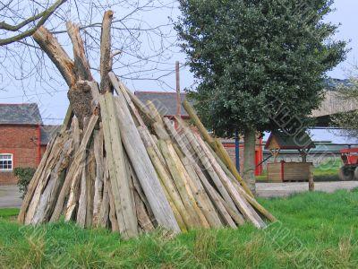 Wood for Bonfire on Farm
