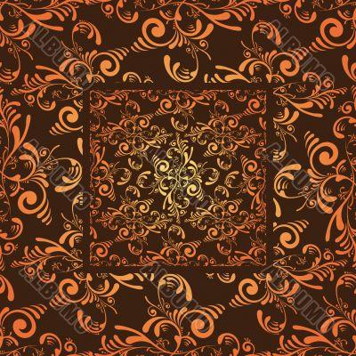 orange cutout tile