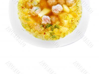 A tasty meat soup