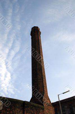 Partial Silhouette of Old Industrial Chimney