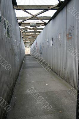 Grungy Public Pathway in Liverpool