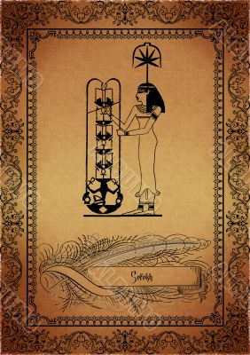 Parchment with egyptian elements