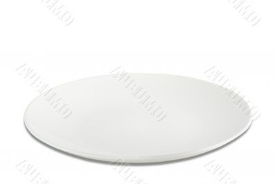 simply white plate, isolated