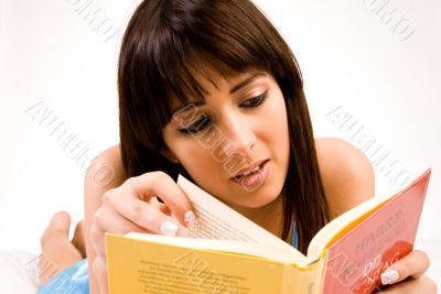 concentrated on reading