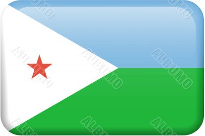 Djibouti Flag Button
