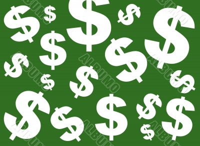 Green Dollar Sign background