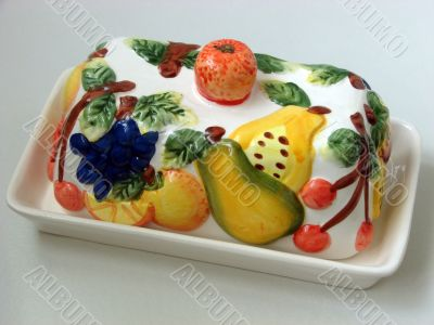 Greater beautiful ceramic plate with a cover