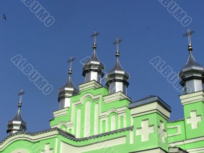 Domes of church in the sky