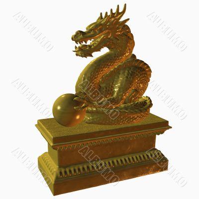 Asian Dragon Statue