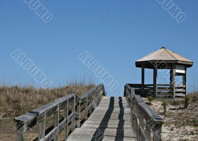Wood Walk To Beach And Gazebo
