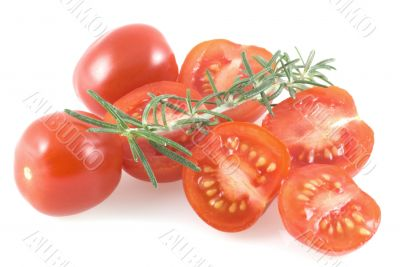 Cherry tomatoes and thyme.