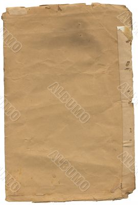 Old paper with spot