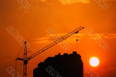 Crane & sundown