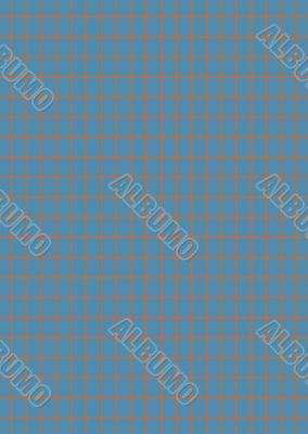 blue and rough orange check