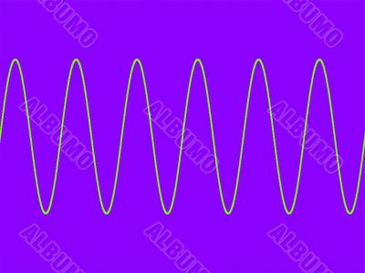 Sine wave on purple