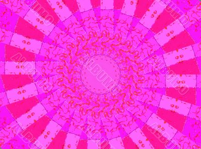 Pink windmill sails abstract