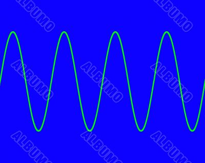 Blue with sine wave