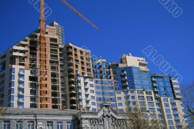 construction of a high-raise building