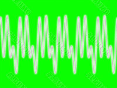 waveform on green