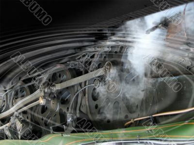 Locomotive wheels reflection