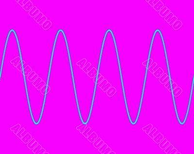 Sine wave on pink